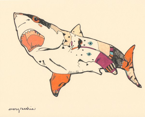 "Tattoo Shark // 8"" x 10"""
