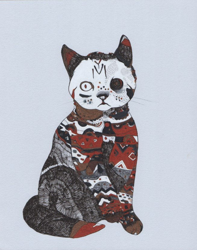 "Tattoo Cat // 10"" x 8"""