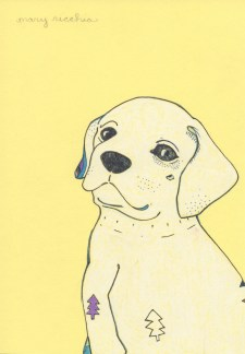 "Yellow Lab // 7"" x 5"""