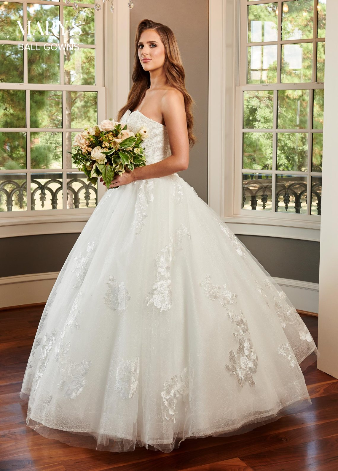 Bridal Ball Gowns | Style - MB6063 in Ivory or White Color