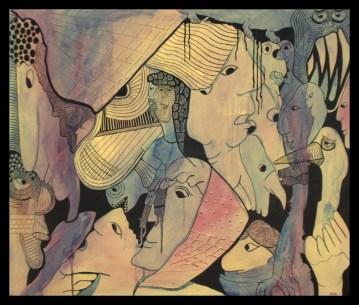 Line Figures 2, 120 x 100 cm, € 1200,- acryl op canvas