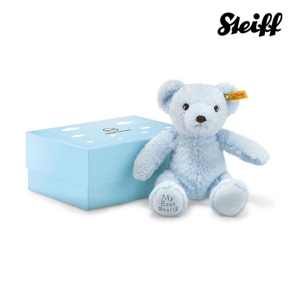 My first Steiff Teddy bear in gift box Blue