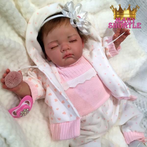 Sofia Asleep Brunette Reborn Mary Shortle