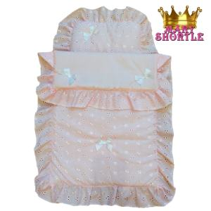Pram Bedset Pink Mary Shortle