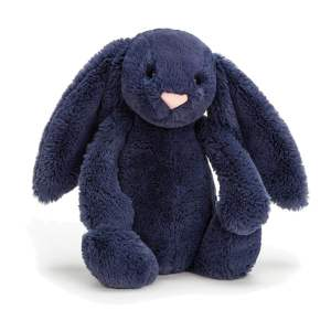 Bashful Navy Bunny Jellycat Teddy Mary Shortle