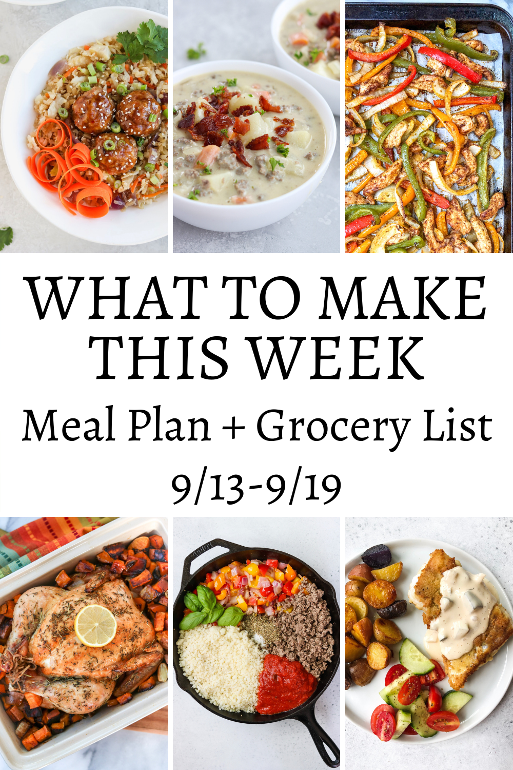 What To Make This Week – 9/13-9/19
