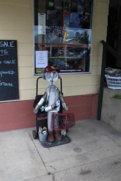 IM05 Scarecrow Name: GG Groper Graeme Owner: Graeme Rumler - Borumba Fishing Shop 111 Yabba Rd Imbil 4570 Registration Centre: Imbil Category: Artistic