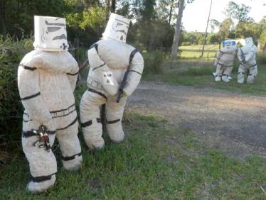 KA08 Scarecrow Name: Storm Troopers Owner: Trudgett Family 23 Woodhill rd Kandanga 4570 Registration Centre: Kandanga Category: Traditional