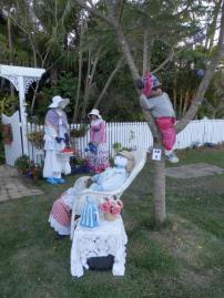 AM01 Scarecrow Name: Hanging out at the blue and white jug Owner: Lisa Balalla 10 Busby rd Amamoor 4570 Registration Centre: Kandanga Category: Traditional