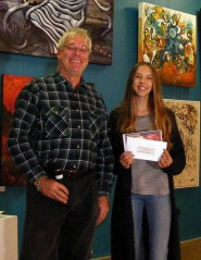 Bush Haven's Bruce Dahl with Youth award for Maxine Kuerschner