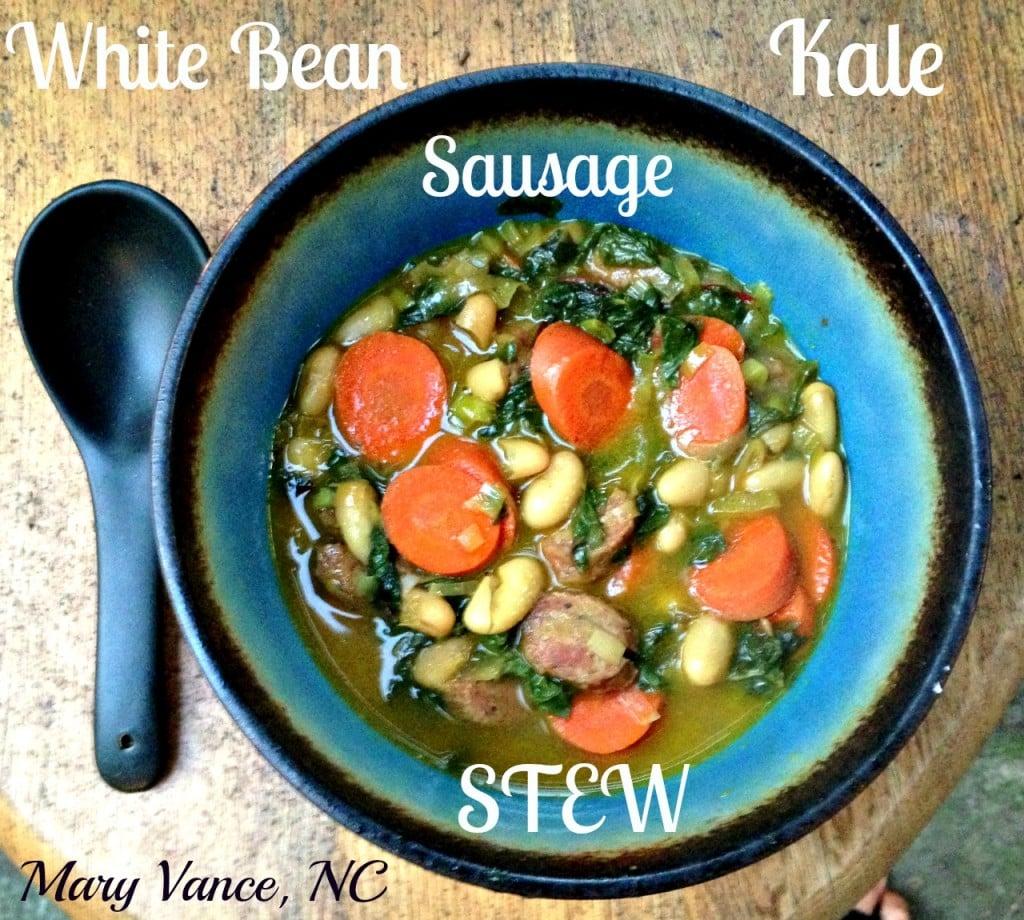 Kale, White Bean, Sausage Stew (Grain & Dairy Free)