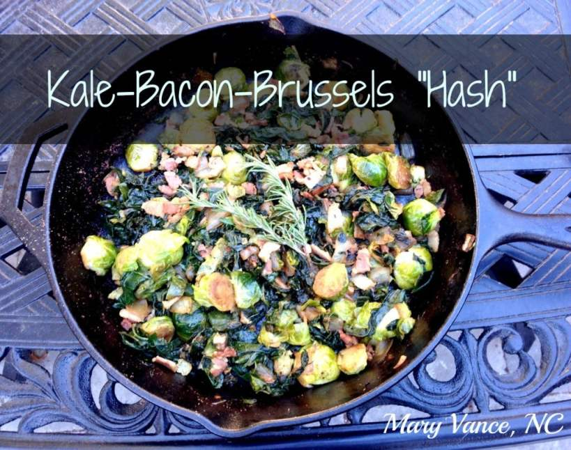 "Kale-Bacon-Brussels ""Hash"""