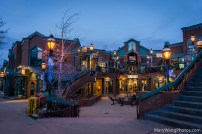Breckenridge shops at night