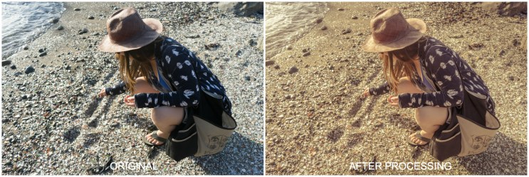 Beachcombing before & after