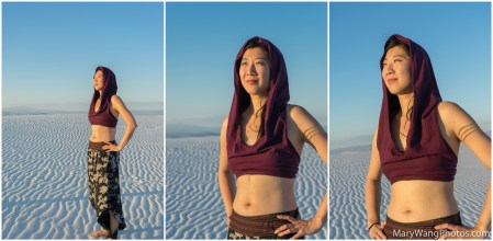 White Sands collage, female