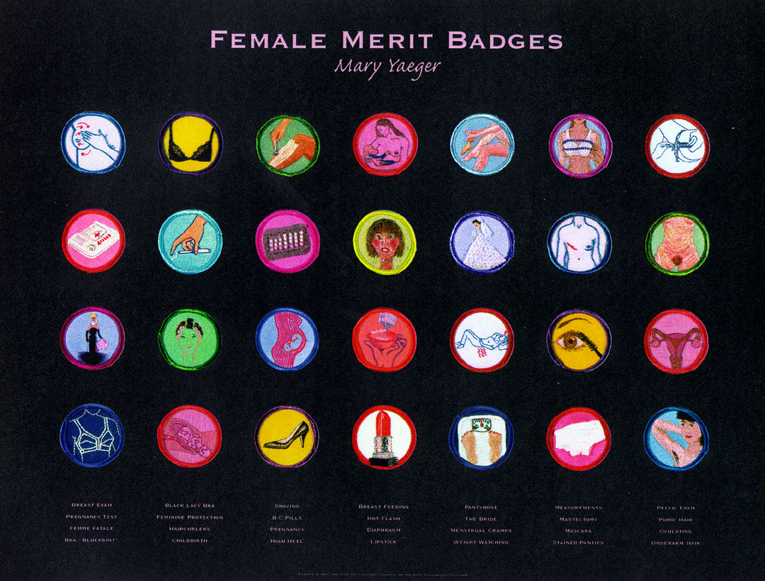 Female Merit Badge Poster By Mary Yaeger