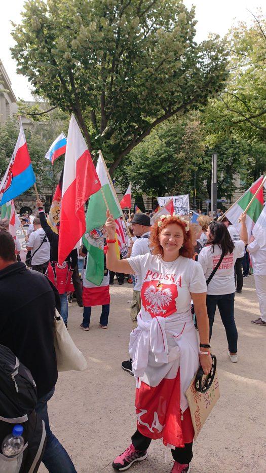 Demo Berlin, 29.08.2020, ich war für meinen Land Polen in Berlin!