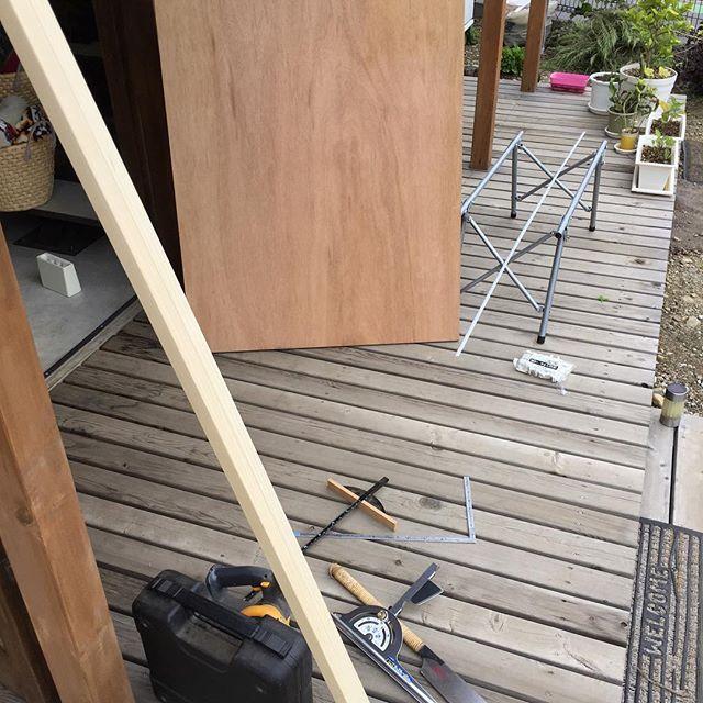 さて、これから某店の壊れたベンチの改造だね。
