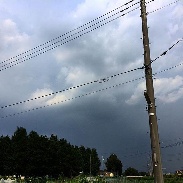 なんだか、降りそうな雲