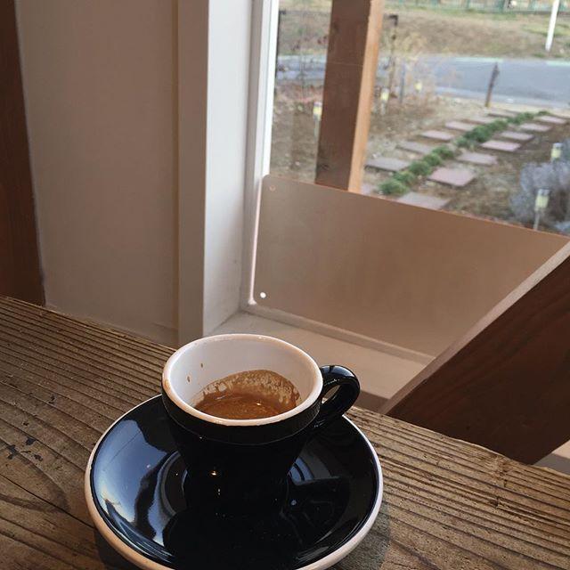 espresso 外は風が強いです。#masasfactory