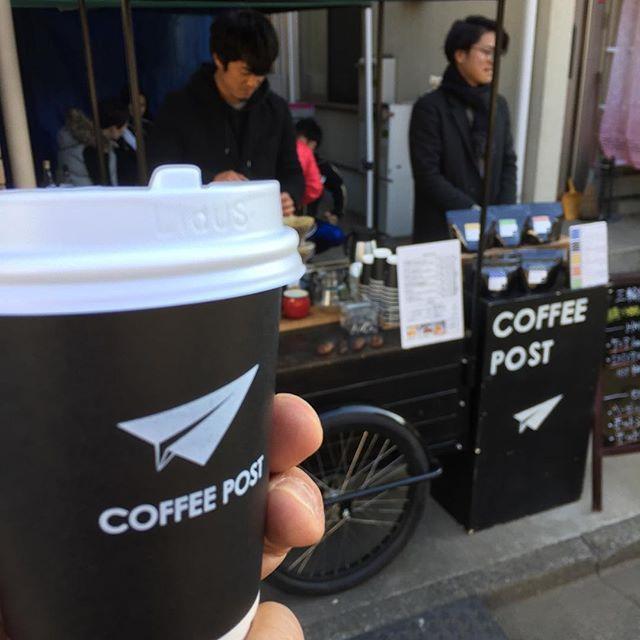 さて、とりあえずひと息。  今日は @coffee__post さんが来てるよ~!