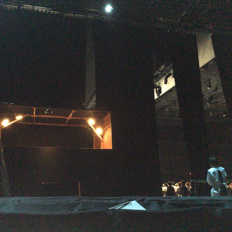 しばらく静かでしたが、今日で今年の舞台の仕事も終わりです。  5日間ほど、暗い中で静かにしていました。
