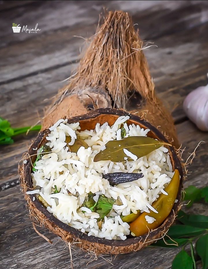 Coconut Milk Rice South Indian Style