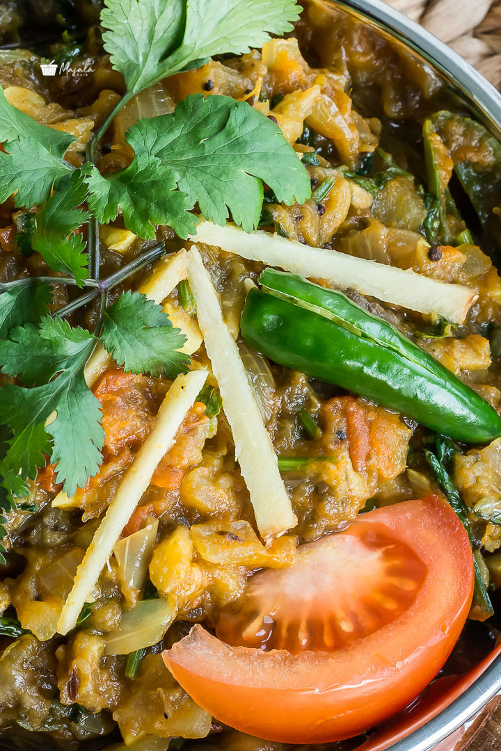 Baingan Bharta or Mashed Eggplant Curry