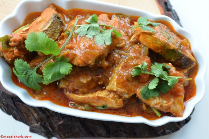 H1 Fish Pulusu or Tangy Fish Curry