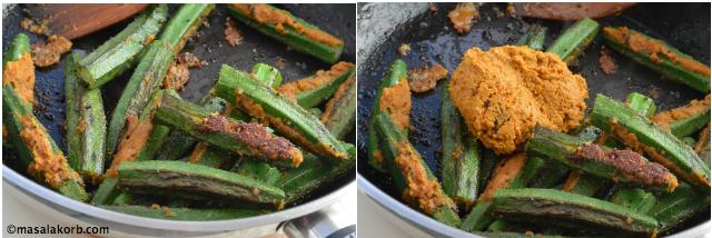 Stuffed Okra Recipe step 5 Stuffed Bhindi fry