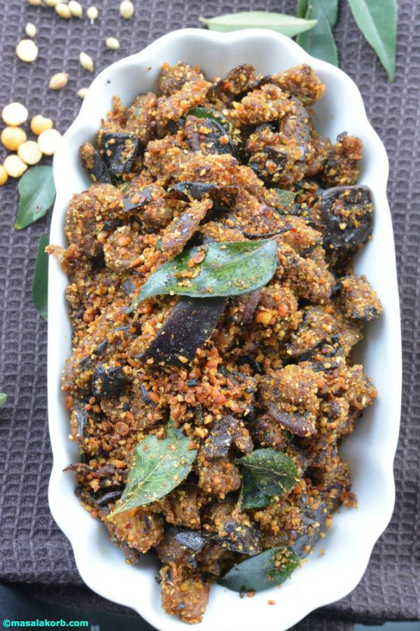 Eggplant stir fry or vonkai podi kura