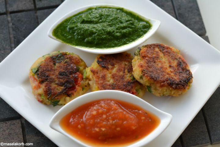 Vegetable aloo paneer tikki H