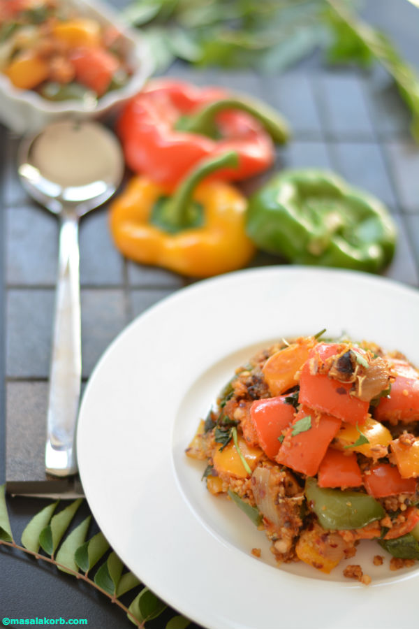 Tricolour capsicum masala stir fry V3