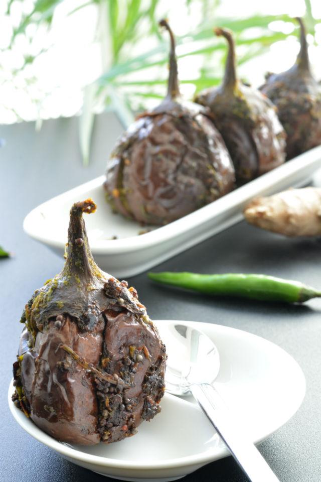 Stuffed Indian Eggplant or Gutti Vankaya V5