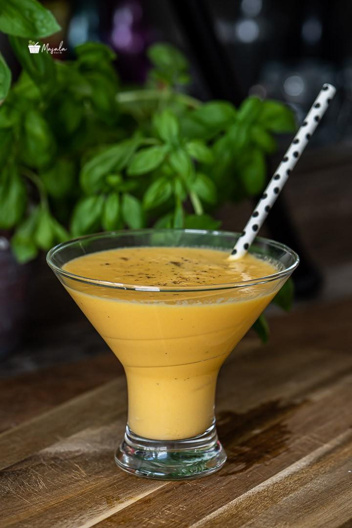 Mango Lassi Recipe prepared with fresh mango.