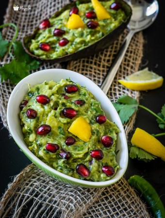 Guacamole in a bowl.
