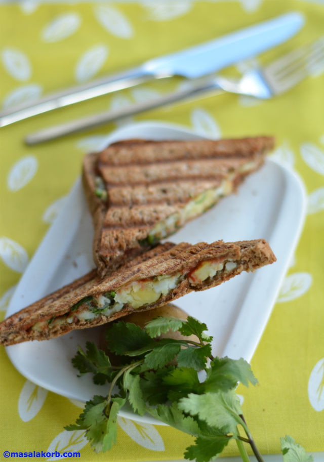 Chaat Style Mashed Potato Toast Sandwich V4