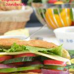 Summer Vegetable Cheese Baguette Sandwich
