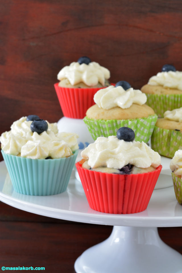 Blueberry Cupcakes With Cream Cheese Frosting V4