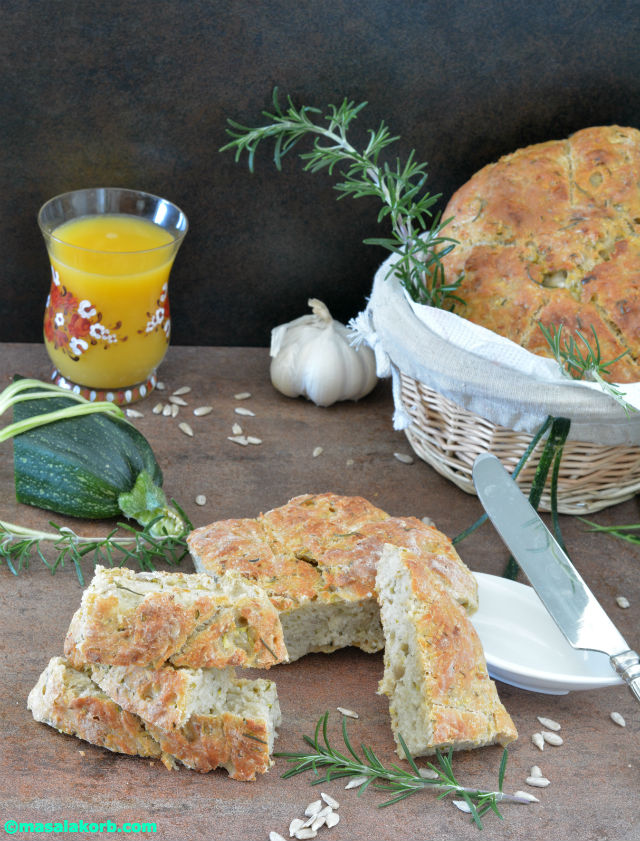 Rustic Rosemary Garlic Infused Zucchini Bread V3-1