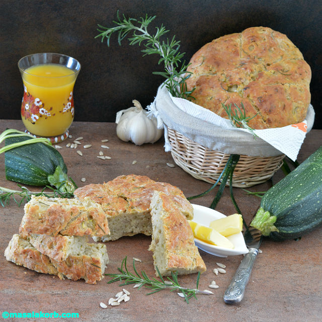 Rustic Rosemary Garlic Infused Zucchini Bread V6