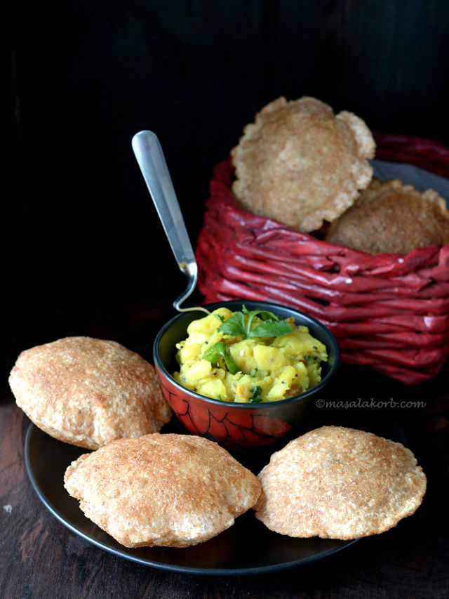 How to make puffy poori | Indian Puri Recipe V5