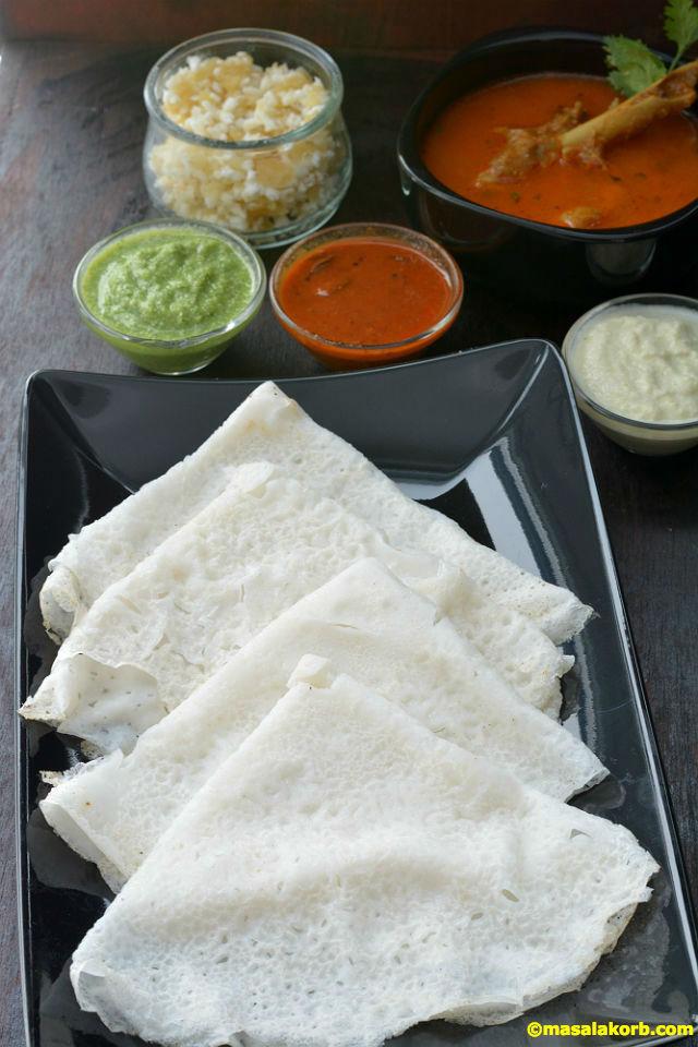 Preparation of Neer Dosa | Mangalorean Neer Dosa Recipe