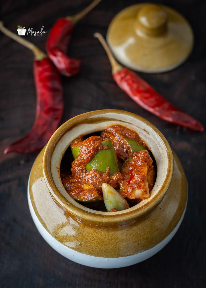 Avakaya Pachadi Recipe, Mangai pachadi in a jar