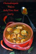Chamadumpala Pulusu or Arbi/Taro Root Curry