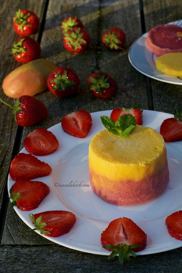 Frozen Strawberry Sunrise Smoothie