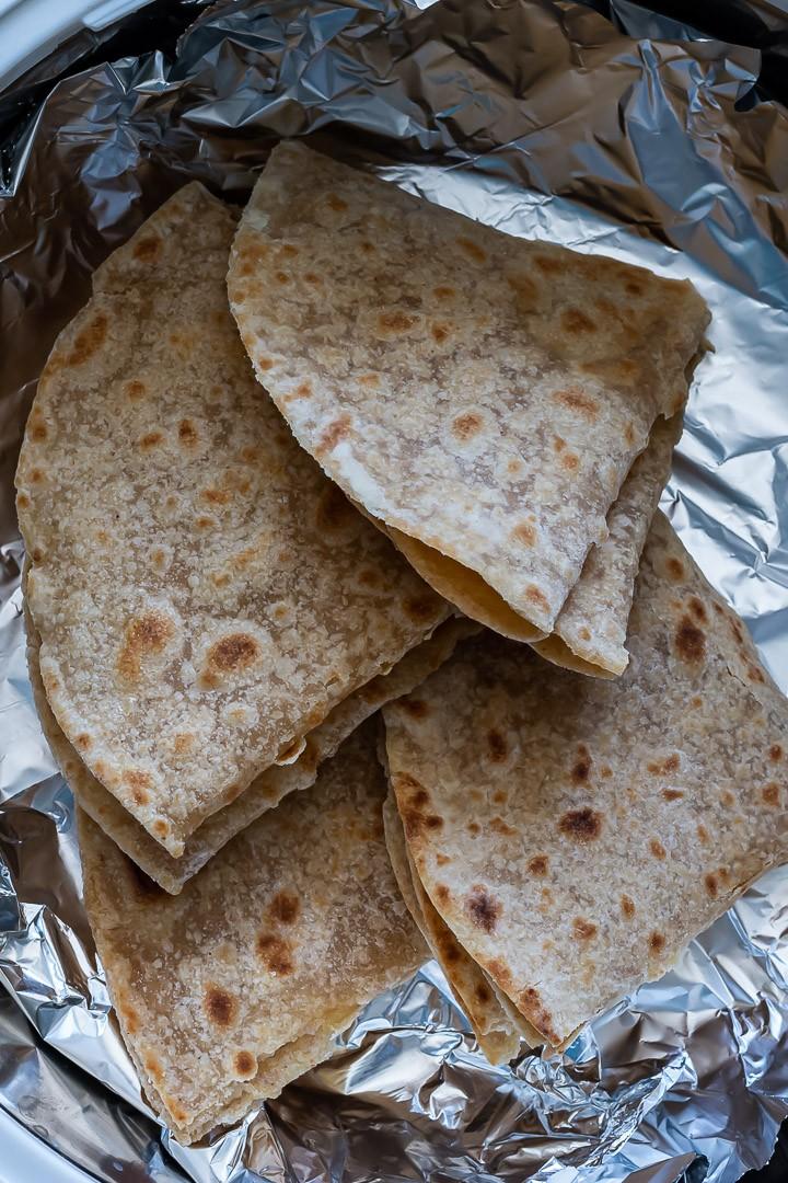Gujarati Pad Wali Roti (Be Padi Rotli)   Two Layer Roti in a hot box.