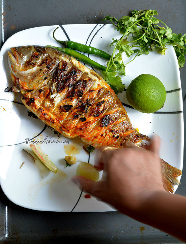 Grilled fish indian recipe spicy grilled fish masala masalakorb grilled fish indian recipe indian style grilled fish forumfinder Image collections