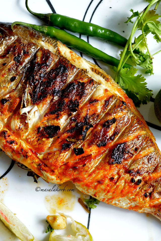 Grilled Fish Indian Recipe | Indian Style Grilled Fish