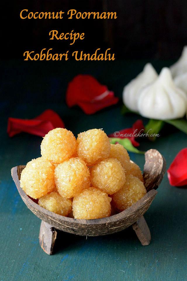 Coconut Poornam Recipe or Kobbari undalu